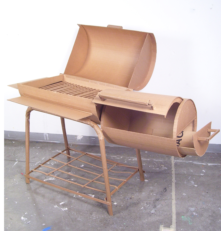 Everyday object made out of cardboard