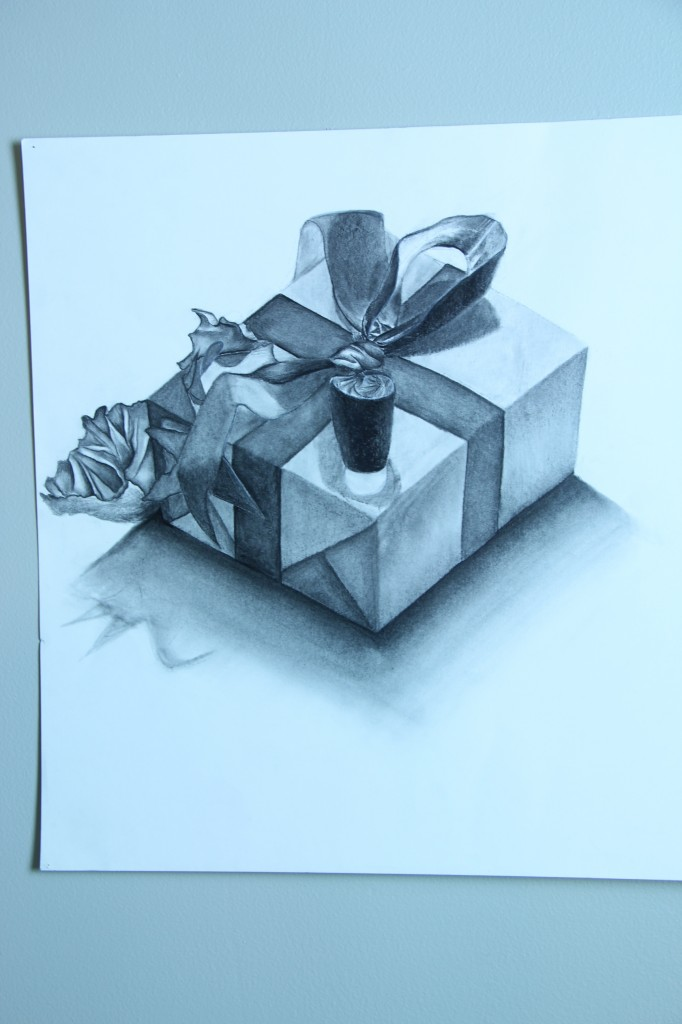 Illustration of an open present